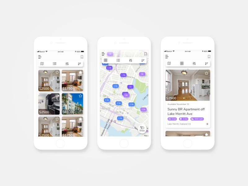 Craigslist Apartment Search Reimagined by Jules | Dribbble | Dribbble