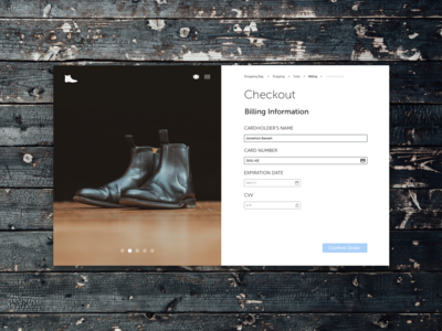 The Chelsea Boot Checkout Page