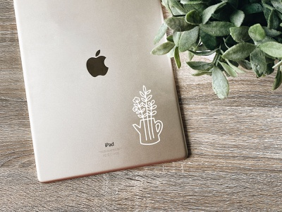Cute Plant Decal vinyl plant decal