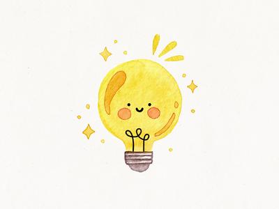 cute lightbulb