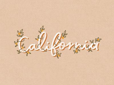 California lettering artist handlettering california lettering