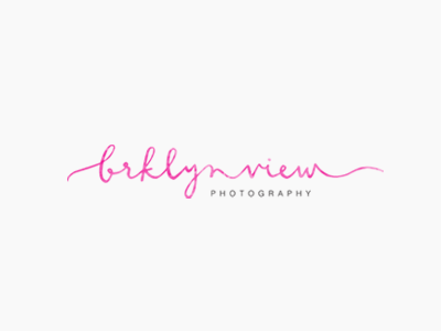 brklyn view / proof no.3 logo proofs hand lettering calligraphy watercolor