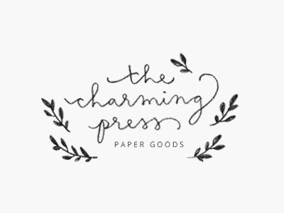 charming press / proof no.1 hand lettering cursive illustration logo proofs