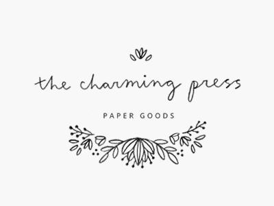 charming press / proof no.2 proofs logo hand lettering cursive illustration