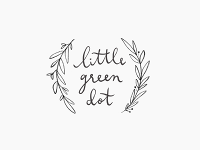 little green dot / proof no.3 logo proofs hand lettering calligraphy illustration