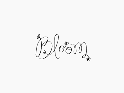 bloom / logo logo hand lettering script