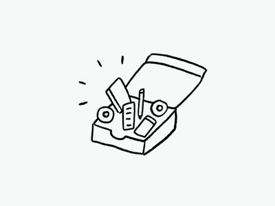 Box of goodies illustration