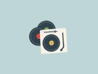 record player illustration