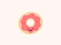 cute doughnut illustration