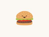 cute burger illustration