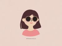 girl + sunglasses