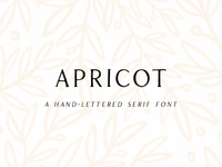 Apricot Hand-Lettered Serif Font