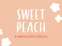sweet peach : handlettered sans serif font