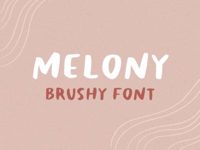melony - brushy font