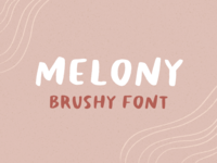 melony - brushy font