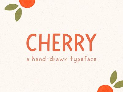 cherry - hand drawn block typeface custom typeface hand lettered hand drawn blocky font font