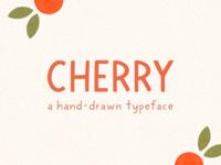 cherry - hand drawn block typeface