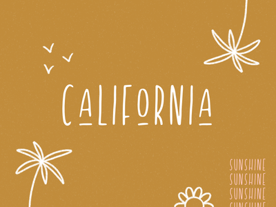 california summer skinny font custom font