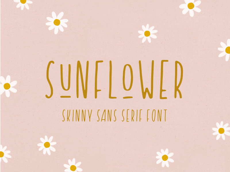 introducing: sunflower skinny type custom typeface typeface handmade font