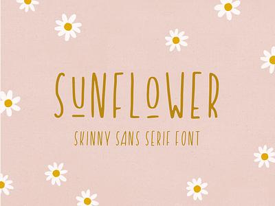 introducing: sunflower skinny type custom typeface typeface handmade font