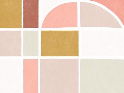 shapes textured block print illustration