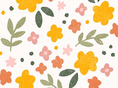 textured floral pattern textured floral illustration floral pattern