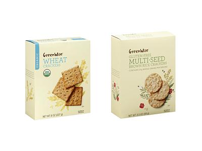Publix Supermarket GreenWise Crackers - Packaging food illustration food packaging