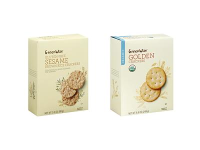 Publix Supermarket GreenWise Crackers food illustration food packaging illustration