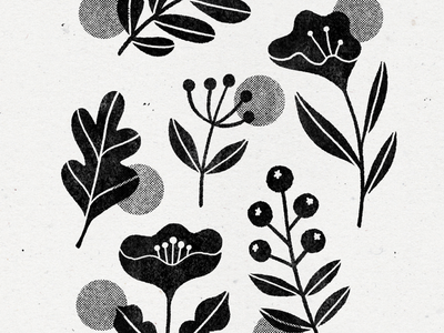 exploring linocuts - part 1 stamp illustration plants linocut