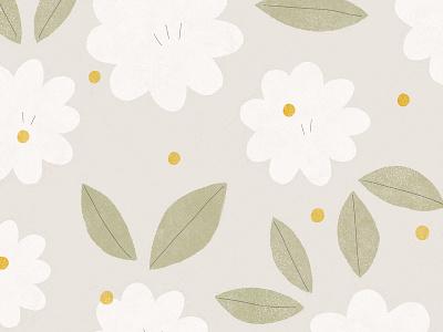 light & airy light summer spring flower illustration flower floral pattern design