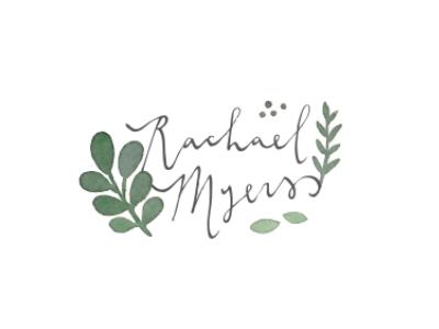 rachael myers / proof no.1 logo watercolor calligraphy proofs