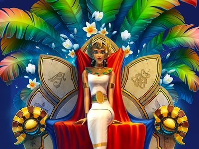 Cleopatra's Treasures Character Design