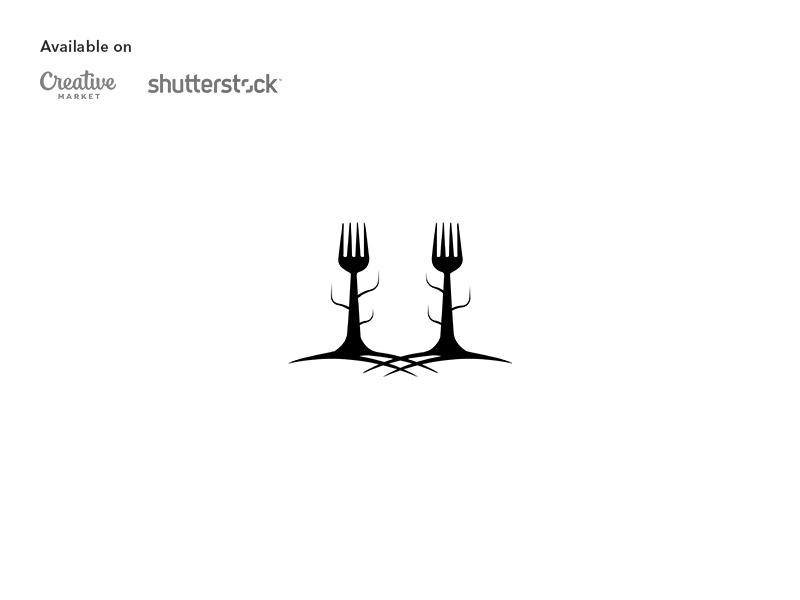 Food forest logo design forest fork logo design branding logo restaurant food