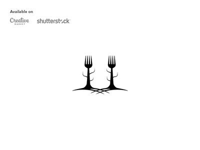 Food forest logo design