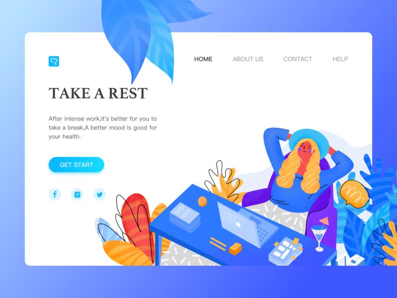 Work illustrations(1) relax employees web mood ui erp work design clean illustration
