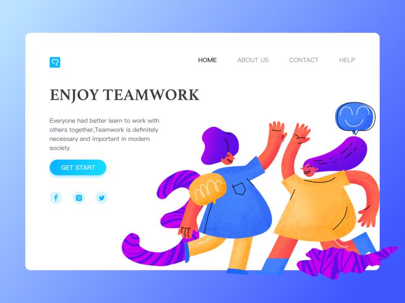 Work illustrations(2) design dribbble employees web erp work mood clean ui illustration