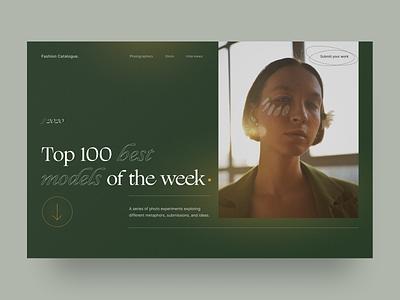Web magazine about photography concept art photographer minimalistic photography photo experimental typography fonts modern artwork art ux website design minimal ui concept