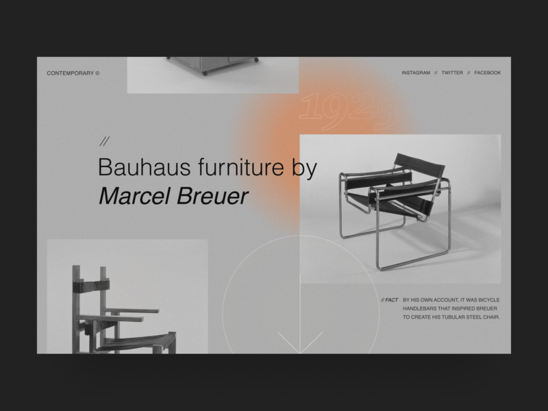 Bauhaus interior furniture