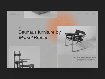 Bauhaus interior furniture interface interior typography art uidesign contemporary webdesign bauhaus project modern website design minimal ux concept ui