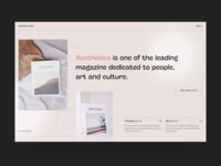 Aesthetic magazine uidesign experimental contemporary pastel projects typogaphy store promo magazine interface project modern ecommerce art website design ux minimal concept ui