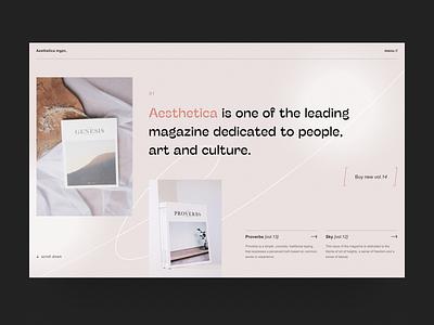 Aesthetic magazine uidesign experimental contemporary pastel projects typogaphy store promo magazine interface project modern ecommerce art website design ux minimal concept ui
