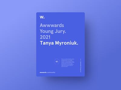 Awwwards Young Jury certificate young jury jury awwwards