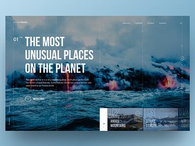 Travel trip travel company nature design website traveling ux ui concept