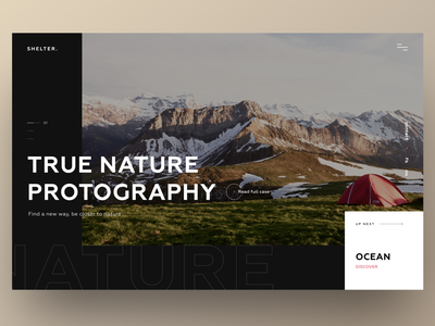 Photography photography nature photographer photo traveling travel design website minimal ux ui concept