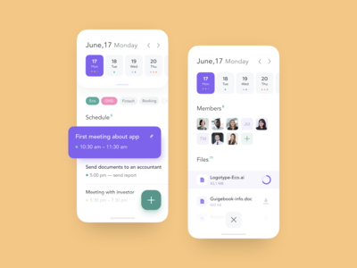Schedule Page for SaaS platform