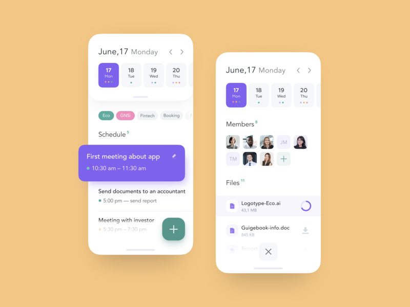 Schedule Page for SaaS platform uxui mobile app dashboard team project saas app task management task list schedule ui planning planing management app ecommerce dashboad calendar admin panel