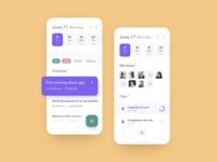 Schedule Page for SaaS platform