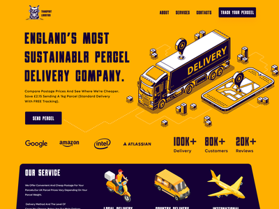 Shipping Company Landing Page argo courier logistic percel 3d graphic design typography truck delivery shipment ui ux design ui design shipping landing page best web design web design landing page design shipping company delivery product