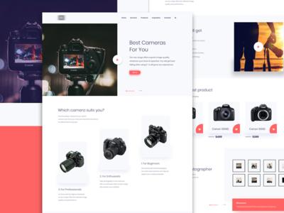 Camera Company Landing Page
