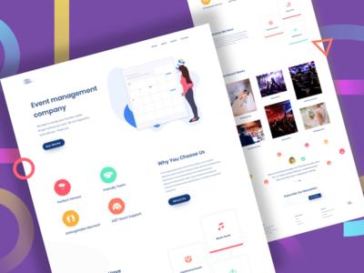 Event Company Landing Page